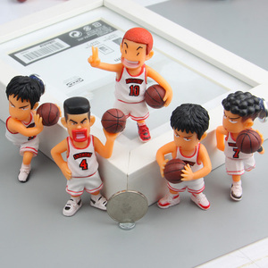 5Pcs Home Decora Cartoon series anime characters Slam Dunk 3D fridge magnets Toy Figures Refrigerator magnets Children Gift