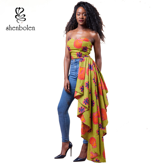 2017 summer women Prom clothing african style Irregular sexy ...