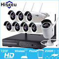 Kit Sistema De CFTV 720 P 8CH HD Sem Fio Night Vision IP wi-fi câmera de CCTV Camera kit Home Security Sistema de Vigilância Por vídeo hiseeu