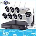Sistema de CCTV 720 P HD 8CH kit de Visión Nocturna Inalámbrica IP wifi de la cámara de vídeo del Sistema de Vigilancia CCTV Cámara kit de Seguridad Para el Hogar hiseeu
