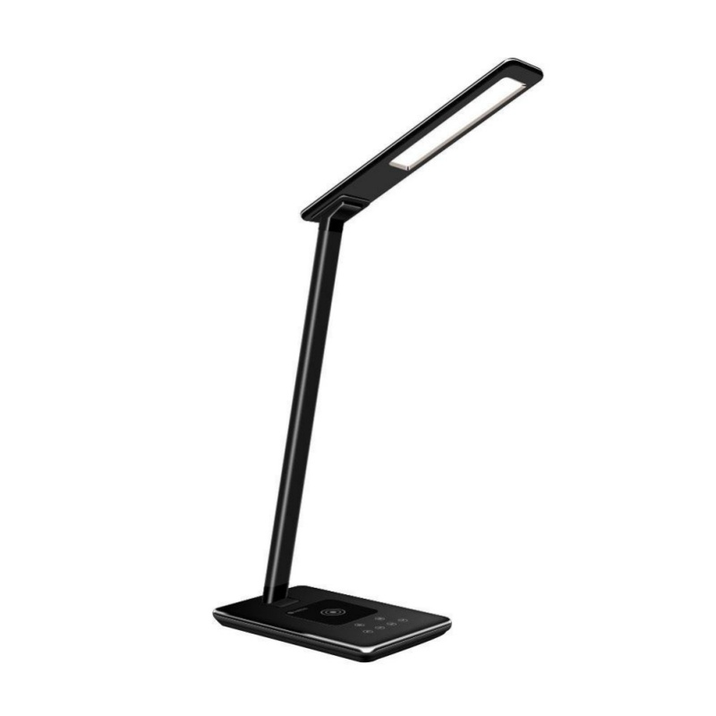 LED Desk Lamp Table Lamps Brightness Adjustable Office Lamp with USB Charging Port Qi Wireless Charger, Touch Control