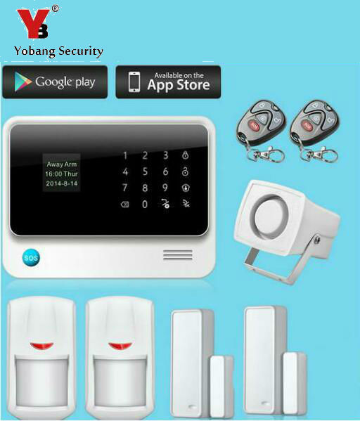Yobang Security APP Control Wifi GSM SMS Alarm Kits Wireless Alarmes For Home Anti-theft Close/Open Door Sensor Motion Detector