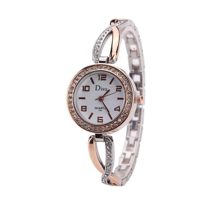 Women Metal Bracelet Watches Fashion Brand Designer Creative Ladies Quartz Wrist