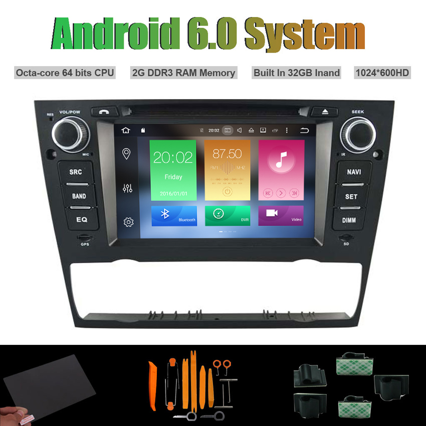Android 6.0 Octa-core CAR DVD PLAYER for <font><b>BMW</b></font> <font><b>E90</b></font> E91 E92 E93 2005-2012 3 Series Auto Air-con AUTO Radio RDS STEREO WIFI 32G Flsh