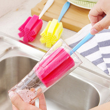 Long Handle Easy Cup Brush Sponge Cleaner Cleaning Brush Bottle Glass Cup Scrubber Washing Cleaning Kitchen Tool стоимость