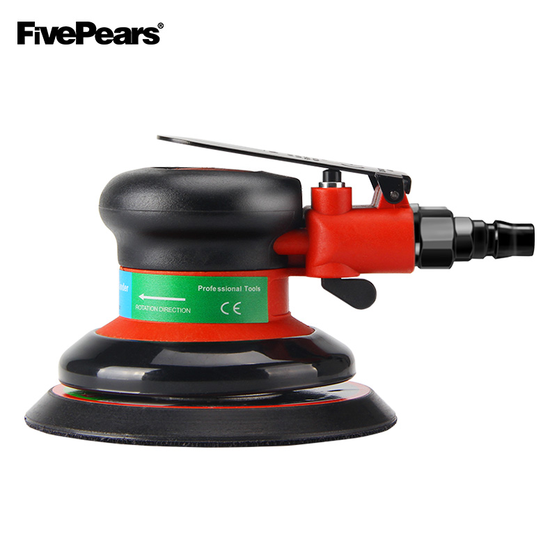 FIVEPEARS Pneumatic Tools Variable Speed Orbital Sander Machine 5Inch 125MM Pad 1 4Inch Air Inlet Can