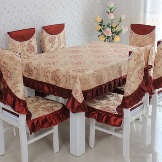 mesa de tela de tela de mesa de comedor silla