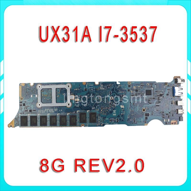 все цены на  Original for ASUS ZenBook UX31A motherboard UX31A2 REV2.0 Mainboard Processor i7-3537 8G Memory on board 100% tested  онлайн