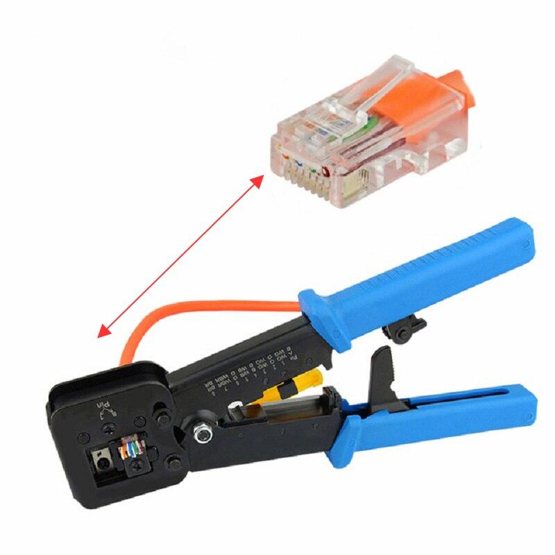 Multifonction EZ rj45 sertisseur main réseau outils pinces rj12 cat5 cat6 8p8c Câble Décapant appuyant sur pince pinces clip