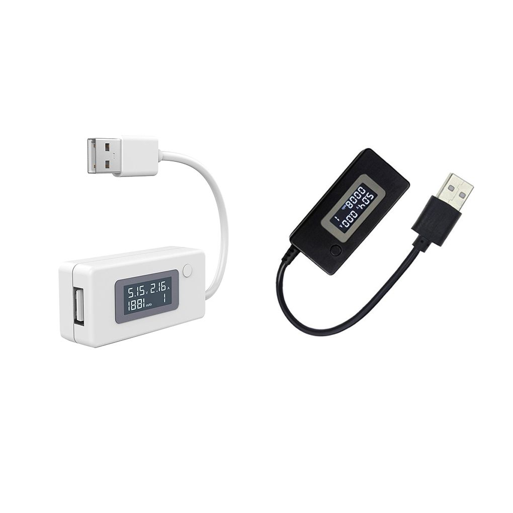 Worallymy LCD USB Voltage/Amps Power Meter Tester Multimeter Test Speed of Chargers Cables Capacity of Power Banks