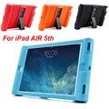 Inteligente stand case capa para casos ipad 5 ipad air 1 crianças dos miúdos seguros casos de proteção de silicone para ipad air 1 doces cores