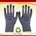 NMSafety 13 датчик нейлон погружения нитрил рабочие перчатки/Резиновые перчатки безопасности/Трикотажные защитные перчатки