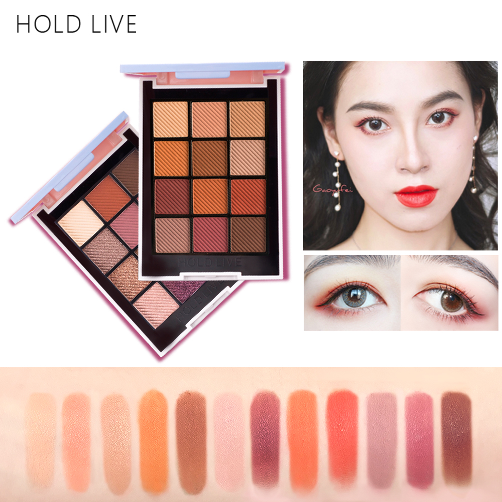 HOLD LIVE Color Focus Charm Shaow Eye Shadow Palette 12 Colors Matte Glitter Eyeshadow Palettes Pigment Nude Shadows Makeup Set 24 full colors matte eye shadow palette pigment glitter eyeshadow palettes nude shadows cosmetics eyes shades enhancer makeup