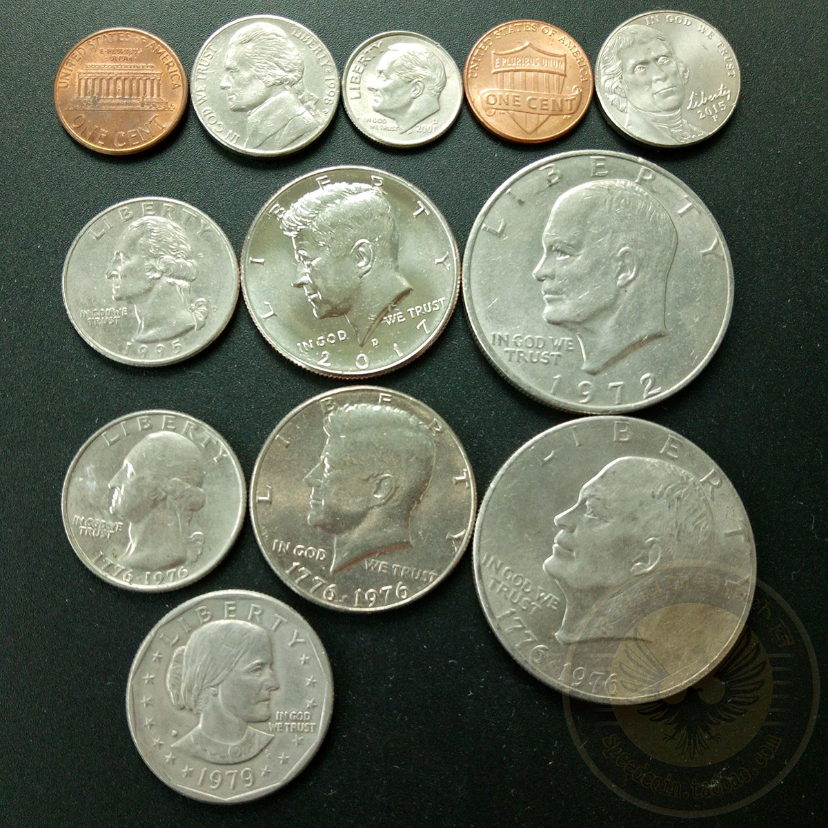 Set 12pcs Usa America Coins North