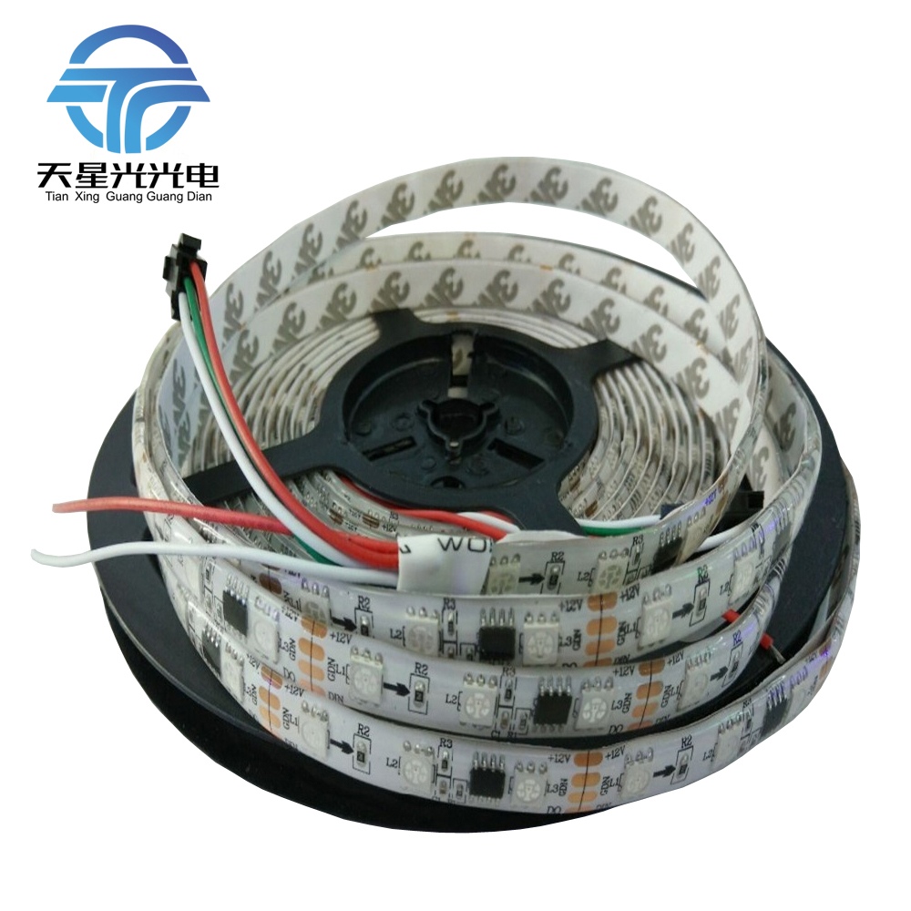 5m 30led / m 60led / m DC12V ws2811ic 5050 RGB SMD direccionable - Iluminación LED