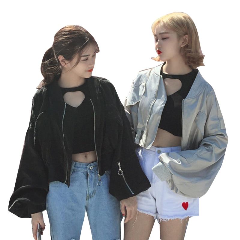 Oversize Preppy Style Casual Autumn Winter Outwear Ladies Cute Kawaii Jackets Women Harajuku Basic Jackets And Coats