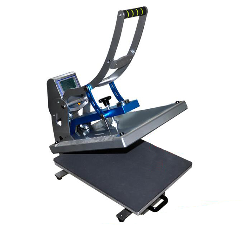New Auto Open Flatbed Manual T-shirt Sublimation Heat Press Machine for Mouse Pad,Heat Press Machine for T-shirts 40*40cm twist open v back t shirt