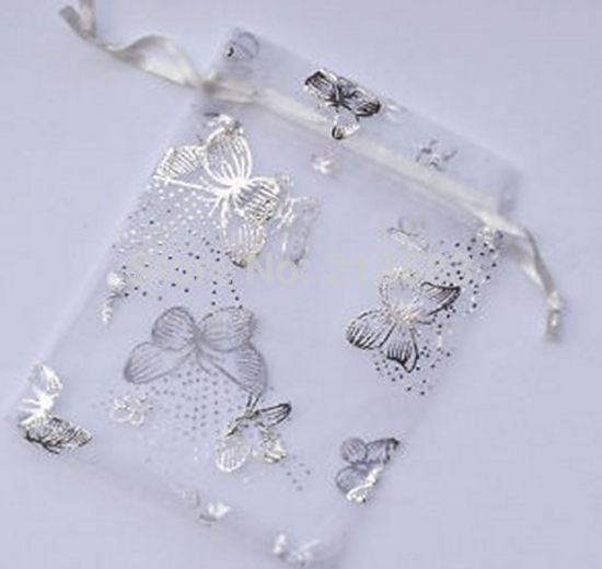 Wholesale Butterfly Organza Bag 9x12 Cm,Wedding Jewelry Packaging Pouches,Gift Bags,Multi Colors,100pcs/lot