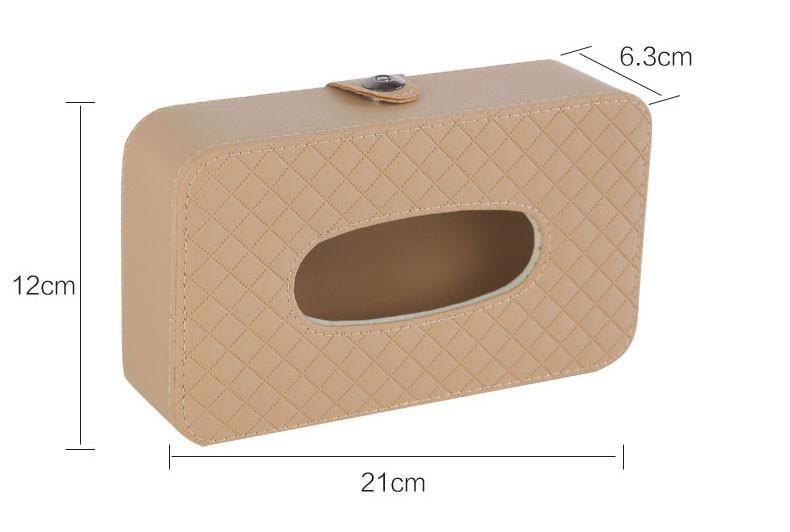 Microfiber Leather Square Tissue Box Holder Rectangular Car Tissue Box Cover Case For Car Seat/Sun Visor/Sunroof Decorative 6
