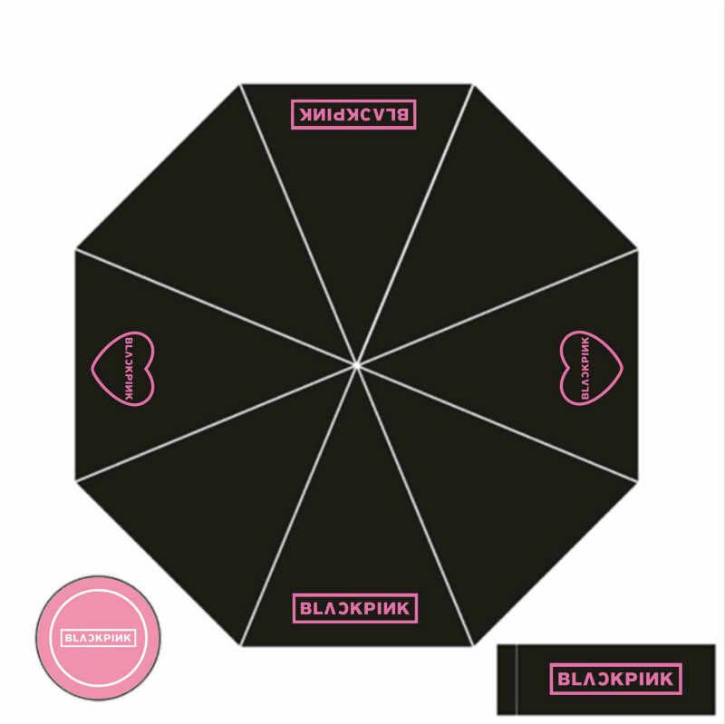 [MYKPOP] BLACKPINK مظلة JENNIE ليزا روز JISOO 3 مطوية KPOP المشجعين جمع SA19071402