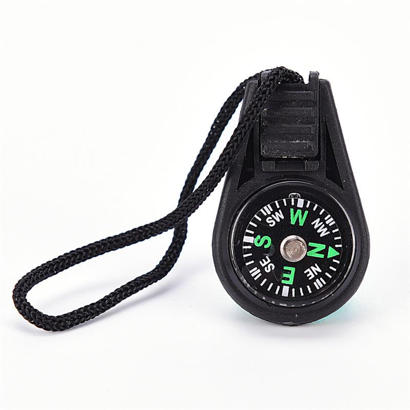 1PCS New Keychain Compasses Multifunctional Hiking Metal Carabiner Mini Compass Gear Survival Keychain Outdoor Tools