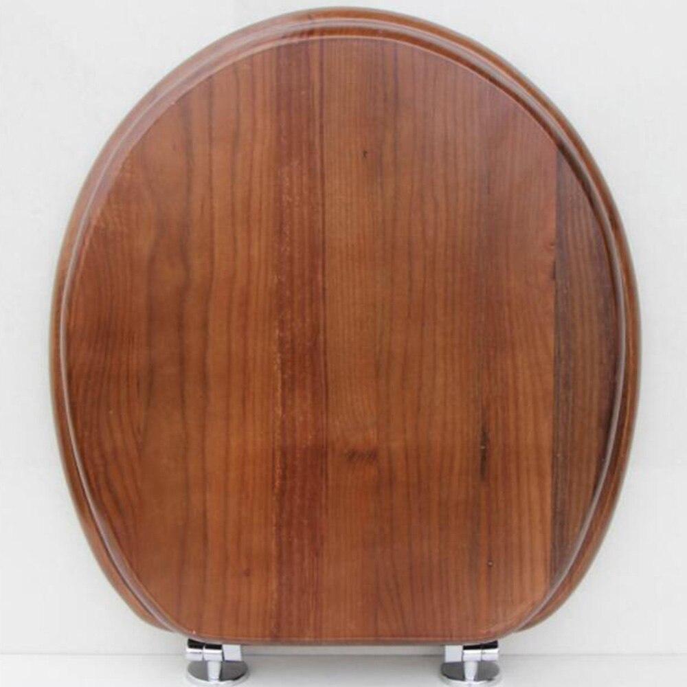 40*33 CM de Haute qualité En Bois Massif En Acier Inoxydable Ralentir Charnière Siège De Toilette Couvercle Convient Pour U, V Toilette En Forme