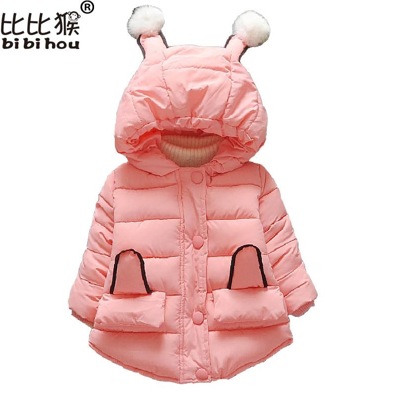Baby Girls Jacket 2017 Autumn Winter Jacker For Girls Coat Fashion Kids Warm Hooded Children Outerwear Coat Infant Girls Clothes