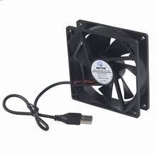Gdstime 2 pieces 92x92x25mm 9225 USB Axial Motor Cooling Fan 92mm x 25mm 5V 9cm DC Brushless PC Case Cooler 90mm