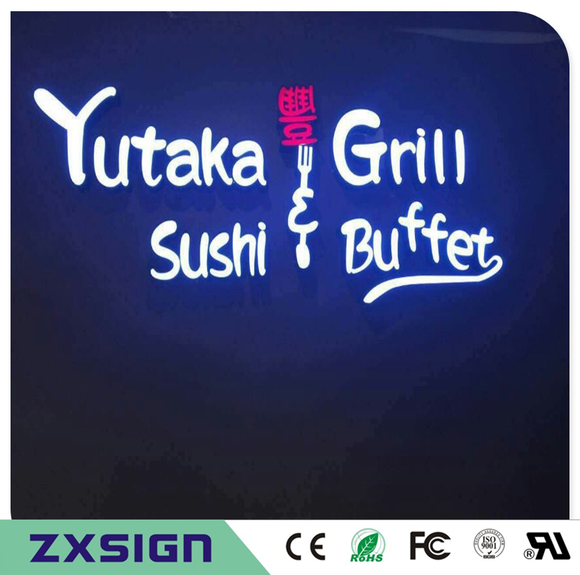 Factory Outlet Outdoor Waterproof Super High Brightness Custom Led Letter Shop Signs, Restaurant Pizzeria Store Name Signages