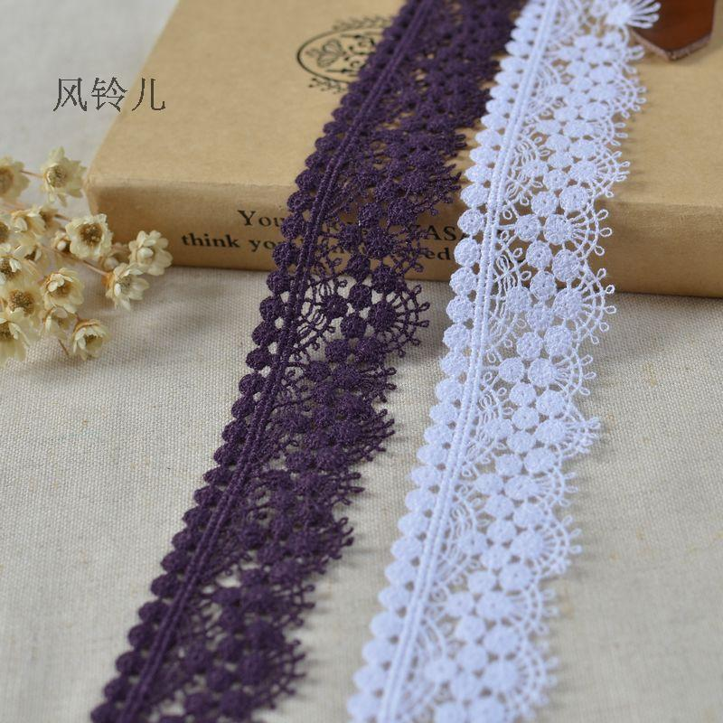 Free Shipping 5Meters 30mm Width Delicate Lace Trim Flower Lace Appliaue DIY Accessories