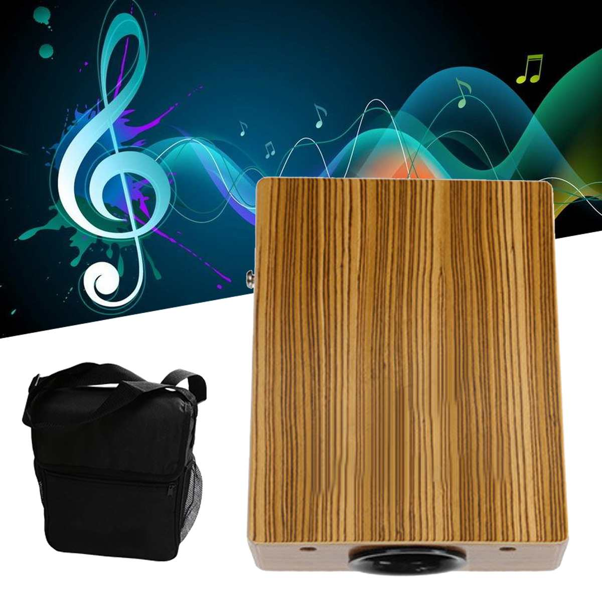 Cajon Drum Boxing Percussion Box Hand Drum with Braces Bag Adults Party Traveling Musical Percussion Instruments EntertainmentCajon Drum Boxing Percussion Box Hand Drum with Braces Bag Adults Party Traveling Musical Percussion Instruments Entertainment