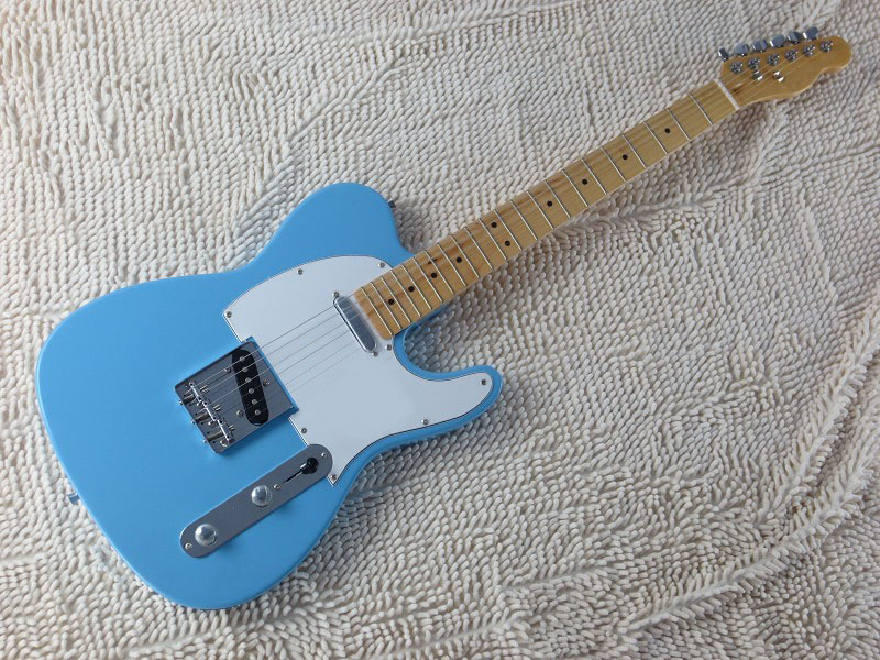 best price high quality american standard tele sky blue electric guitar free shipping 8 1 in. Black Bedroom Furniture Sets. Home Design Ideas