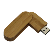 Wooden Rotatable Pen Drive