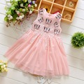 Summer lace tassel butterfy patchwork mesh baby Party girls kids Children dresses,princess Ball Gown infant Dress Vestido S3070