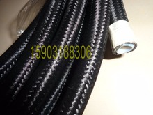 4AN Teflon PTFE E85 Black Nylon Braided Oil Line Fuel Hose 20feet