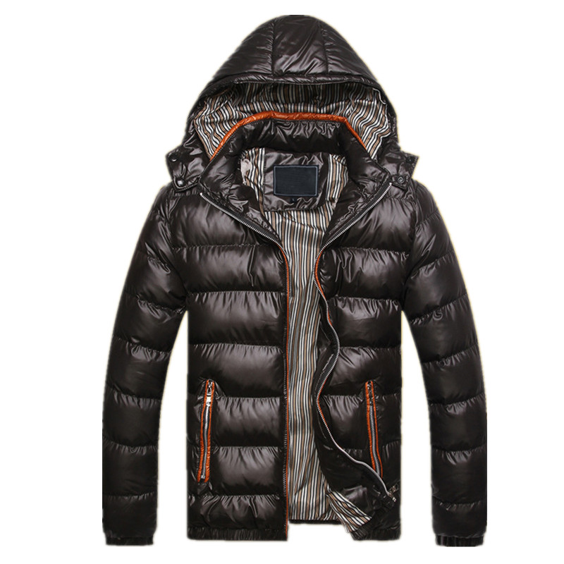 ФОТО Winter Thicken men Parka Jacket 2016 New Hooded Solid Color Black man coats outwear Keep warm waterproof hombre Casual overcoat