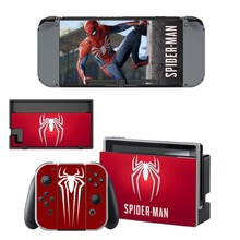 Nintendo Switch Vinyl Skins Sticker For Nintendo Switch Console and Controller Skin Set – For Avengers Spiderman