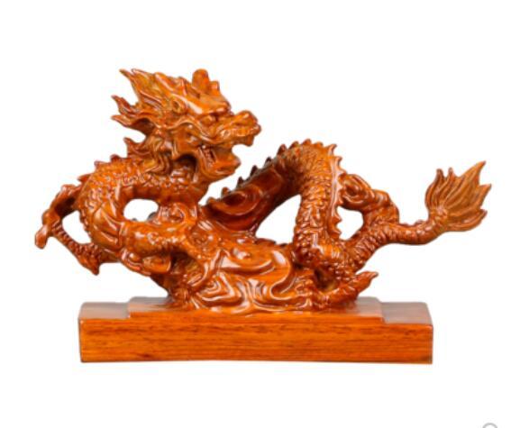 Chrysanthème poire sculpté lapin rouge acajou animaux ébène entier dépenser poire bois sculpté dragon décoration vrai bois