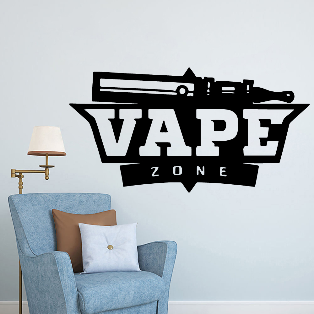 Free shipping VAPE Decorative Sticker Waterproof Decals For Vape Store Wall Stickers Pvc Wallpaper Commercial Decal Vinyl Mural