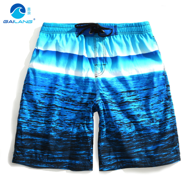 Крышка волна летний пляж брюки Метросексуал fast dry расслабленным отдых пять больших брюки шорты градиент