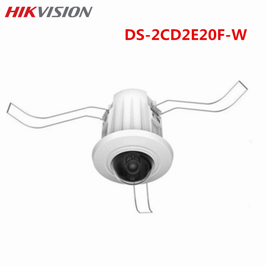 HIKVISION CCTV Dome IP Camera DS-2CD2E20F-W 2MP CMOS HD PoE Wireless Network EZVIZ PoE ONVIF Security System Multi-language newest hik ds 2cd3345 i 1080p full hd 4mp multi language cctv camera poe ipc onvif ip camera replace ds 2cd2432wd i ds 2cd2345 i