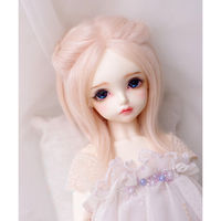 Baby Pink Long Wool Wig Hair 1 8 PUKIFEE AE LATI BJD Dollfie 14cm