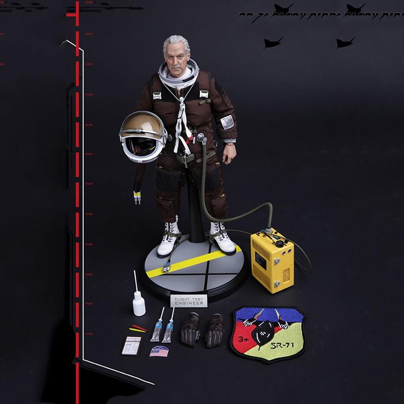 1/6 Scale SR-71 Flight Test Engineer Black Bird 78031 Action Figures Full Set Collections Gifts Toys sr сумка для девочки 16007 black разноцветный sr