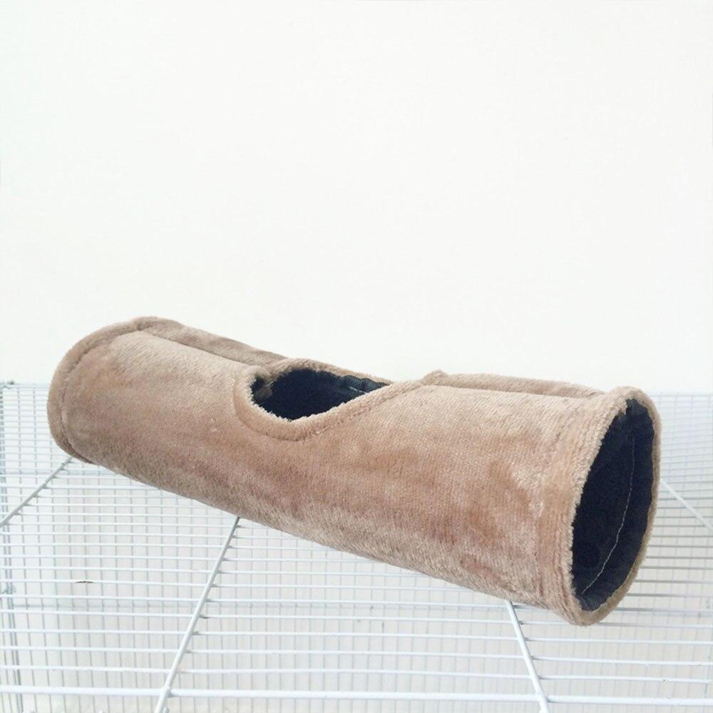 Проход хомяк гамак игрушка Pet хижина белка висит пещера мягкий прочный маленьких животных клетка кровать зима теплая