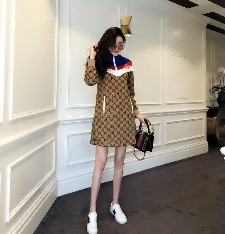 WE10673BA Haute qualité Nouvelles Femmes De Mode 2018 Automne Robe De Luxe Marque Européenne Design partie style robe
