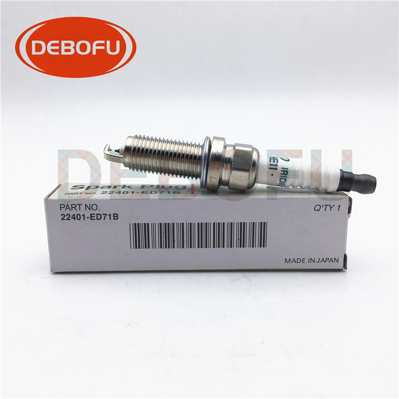 6pcs/lot 22401-ED71B High Quality FXE20HE11 3436 Dual Iridium Spark plugs For Nissan Sylphy Tiida Versa 1.6 <font><b>22401ED71B</b></font> image