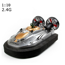 New HT-2876 2.4G 1:10 Scale RC Hovercraft Water Land Boat Speedboat Radio Remote Control bait boat Toy Kid Motorboat One Piece