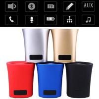 Car Auto Mega Bass Bluetooth Wireless Speaker Voice Amplifier With LED Clock Alarm U Disk TF