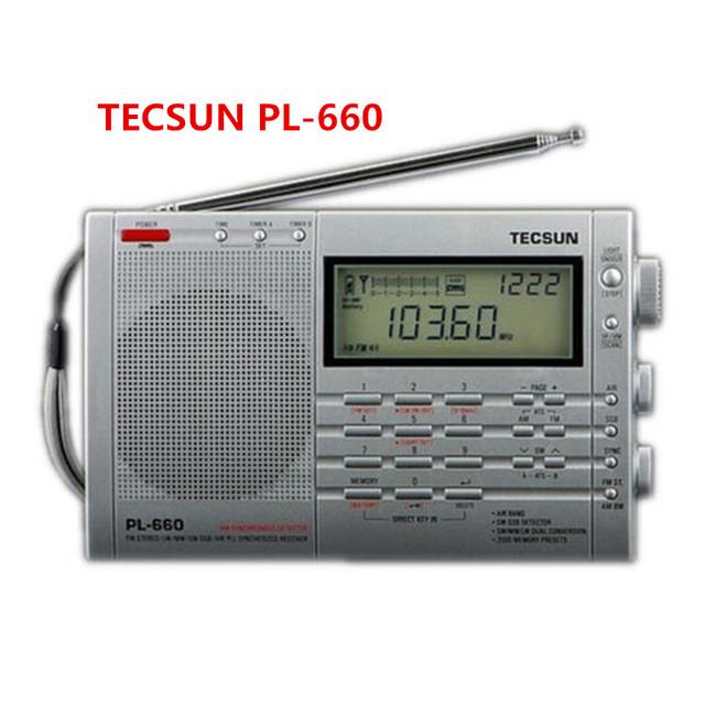 Tecsun pl660 radio Portátil Todo Paramétrica Banda de radio fm estéreo aire sw ssb PLL mw receptor de Radio digital pl-660 radio tecsun