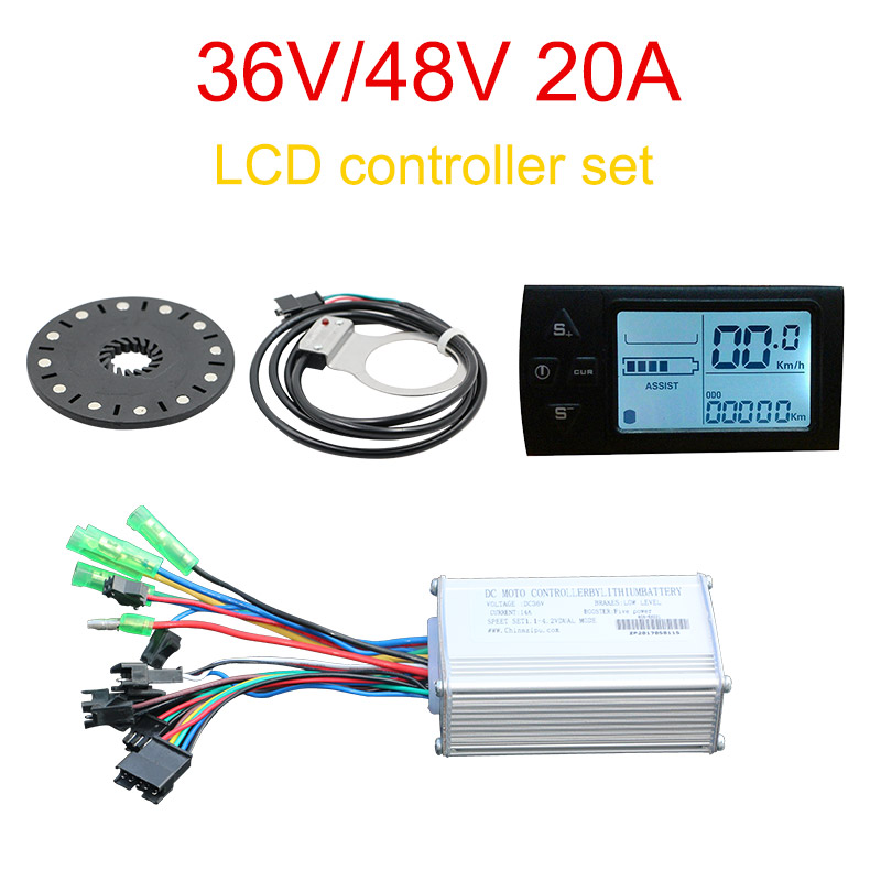 36V/48V 500W Controller LCD display Meter PAS Set E-bike Conversion kit Hall Sensor PAS Electric Bike Conversion Kit Accessories